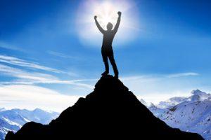 cima, sueños, resultados, emprender