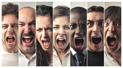 ira, enfado, rechazo